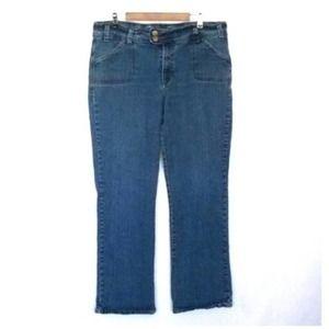 Caren Sport Plus Size Medium Wash Bootcut Jeans 18